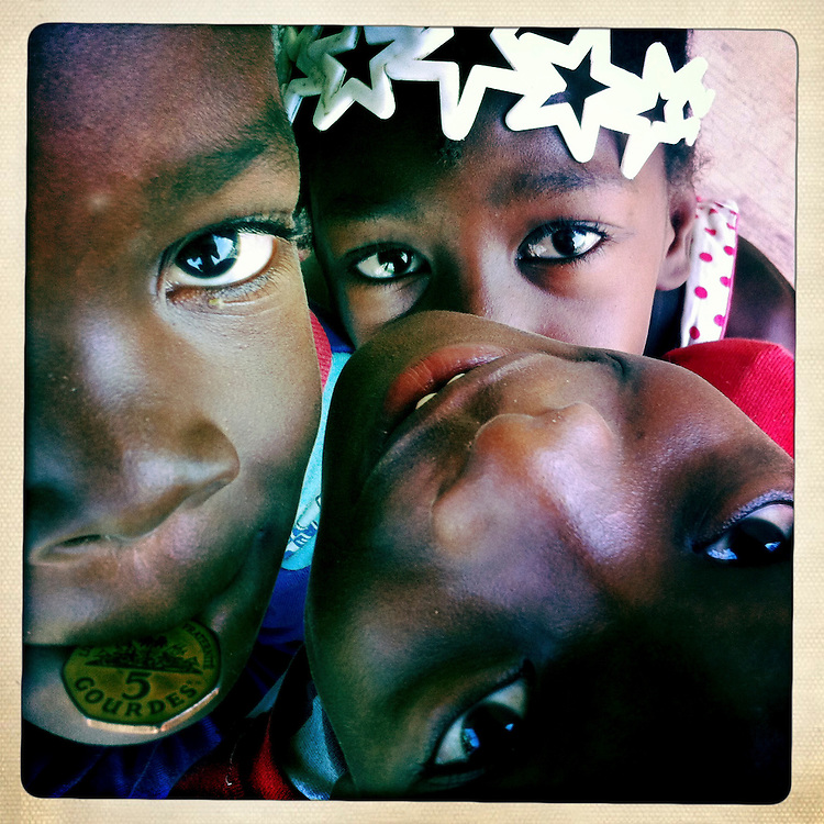 Children play at the Corail camp on Wednesday, April 4, 2012 in Port-au-Prince, Haiti.