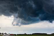 Storm Cloulds over farm lands of Ohio