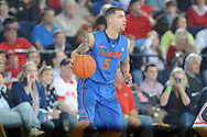 "Ole Miss vs. Florida's Scottie Wilbekin (5) at the C.M. ""Tad"" Smith Coliseum in Oxford, Miss. on Saturday, February 22, 2014. Florida won 75-71.  (AP Photo/Oxford Eagle, Bruce Newman)"