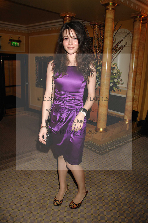 Actress NATHALIE LUNGHI at the Chain of Hope Ball held at The Dorchester, Park Lane, London on 4th February 2008.<br />