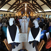 The Shrine of Our Lady of Good Help in Robinsonville concluded a year-long celebration marking its 150th anniversary on Oct. 9 with a Mass celebrated by Bishop David Ricken. (Sam Lucero photos)