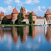Photo by Leandra of Trakai Castle, 15th century Gothic castle in Lithuania.