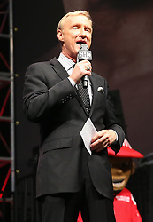 LAS VEGAS, NV - MAY 2: Ring Announcer Jimmy Lennon Jr. at the MGM Grand Garden Arena on May 2, 2014 in Las Vegas, Nevada. (Photo by Ed Mulholland/Golden Boy/Golden Boy via Getty Images) *** Local Caption ***Jimmy Lennon Jr.