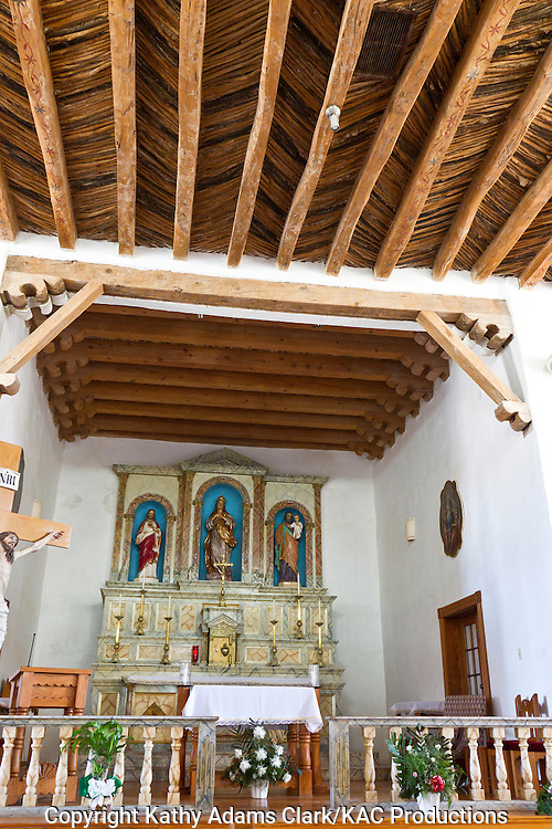 Socorro Mission La Purisima, in Socorro, Texas.  Originally established in 1691, the current church was started in 1829.  The church been in Mexico and the United States due to changes in the Rio Grande.