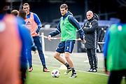ROTTERDAM - Laatste training voor de Klassieker van Feyenoord , Voetbal , Eredivisie , Seizoen 2016/2017 , Stadion de Kuip , 22-10-2016 , Feyenoord speler Michiel Kramer