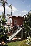 Red building at Knai Bang Chatt. Kep, Cambodia
