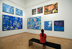 Paintings by Carl-Henning Pedersen at Statens Museum for Kunst or Royal Museum of Fine Arts in Copenhagen Denmark