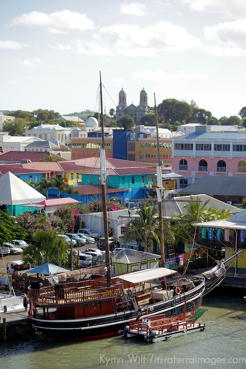 Americas, Caribbean, Antigua & Barbuda. Cruise port at St. John's, Antigua.