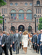 King Willem-Alexander and Queen Maxima of The Netherlands visit the Legislative Assembly of Ontario in Toronto, Canada, 29 May 2015. During the visit the King and Queen meet ms Dowdeswell, Luitenant Governor of Ontario and ms. Wynne, Prime minister of Ontario and her partner ms Rounthwaite. The King and Queen of The Netherlands bring an state visit from 27 till 29 may to Canada. COPYRIGHT ROBIN UTRECHT