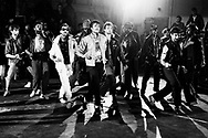 Michael Jackson 1983 filming the 'Beat It' video..© Chris Walter.