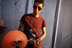 Preparing balloons before the main event helped inflate hopes among Aboul Fotouh supporters..