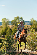 Trail Riding, Quarter Horse, Montana, MODEL RELEASED, PROPERTY RELEASED