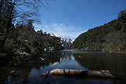 In Chile's lake district lies the Huerquehue National Park - a stunning collection of mountains and lakes. The hiking is varied, from day hikes to lakes and peaks, to a longer multi-day hike to a nearby hot spring. There is a lovely guesthouse (refugio) called Refugio Tinquilco, at the edge of Lage Tinquilco, just near the park entrance. This is Lago el Toro, one of three lakes close together