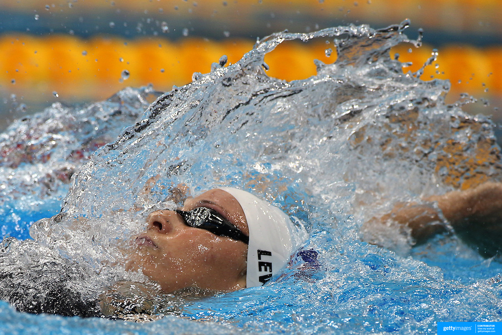 Caitlin Leveranz, USA, in action during the Women's 400m Individual Medley during the swimming heats at the Aquatic Centre at Olympic Park, Stratford during the London 2012 Olympic games. London, UK. 28th July 2012. Photo Tim Clayton