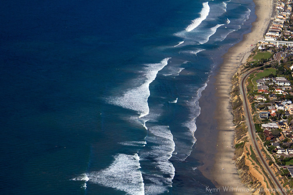 USA, California, San Diego. Aerial of Del Mar coast, San Diego.