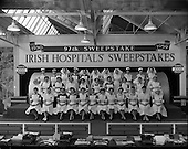 1959 - Group of nurses at Hospitals Trust draw at Ballsbridge, Dublin