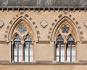 The Oxford University Museum of Natural History designed by Thomas Newenham Deane and Benjamin Woodward in 1850 influenced by the writings of critic John Ruskin.