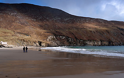 Beach at Keem Bay on Achill Island in County Mayo Ireland