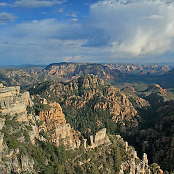 Looking down onto Sedona from the East Pocket south of the West Fork of Oak Creek.