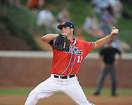 Mississippi's Drew Pomeranz (13) pitches vs. St. John's during an NCAA Regional at Davenport Field in Charlottesville, Va. on Friday, June 4, 2010.