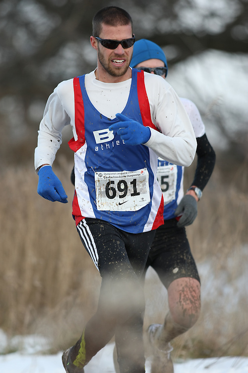 Guelph, Ontario ---29/11/08---  TODD HOWARD competes in the senior men's race at the 2008 AGSI Canadian Cross Country Championships in Guelph, Ontario, November 29, 2008..Sean Burges Mundo Sport Images