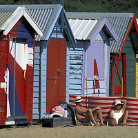 Beach Houses.Brighton Beach / Melbourne.Victoria.Australia