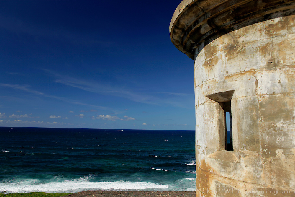 USA, Puerto Rico, San Juan. Garita, or sentry box, of San Cristobal.