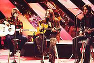 America 1973 Gerry Beckley, Dewey Bunnell and Dan Peek on Top Of The Pops.© Chris Walter.