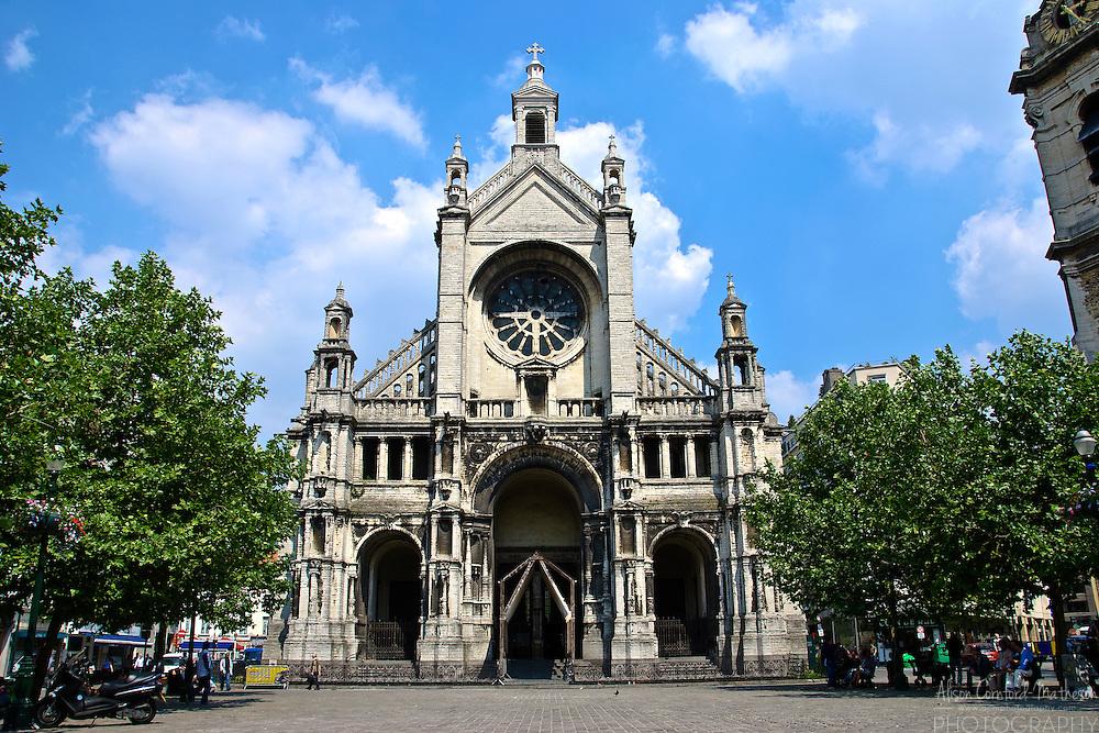 Sainte Catherine (French) Sint Katelijne (Flemish) Church in Brussels Belgium.