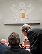 Jun 10, 2010 - Washington, District of Columbia, U.S., - Representative Barney Frank confers with his staff during a House-Senate Conference committee on the Wall Street Reform and Consumer Protection Act on Capitol Hill Thursday..(Credit Image: © Pete Marovich/ZUMA Press)