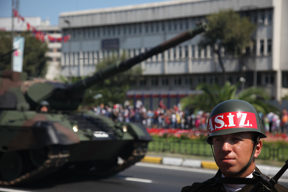 Military Parade in Istanbul on Zafer Bayrami celebration day (Victory Day).