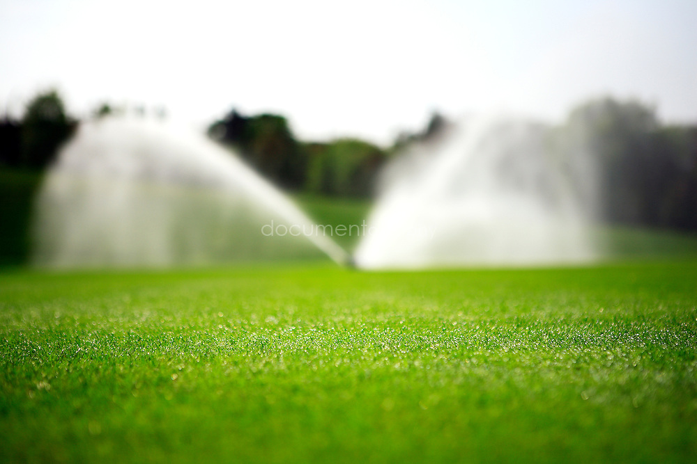 Watering the grass of Wimbledon