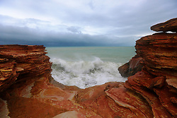 Cyclone Rusty hovers off Broome's Gantheume Point.