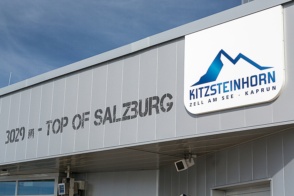 A sign on the observation deck at the top of the Kitzsteinhorn mountain in the Austria Alps.  The Kitzsteinhorn is a major skiing area close to Zell Am See offering an extended skiing season due to its high altitude.It is also a major tourist destination during the summer months. The observation deck is monitored by a number of surveillance cameras.