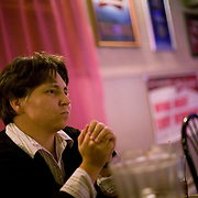 Lynndie England, during an interview  at The Roadhouse Pub in Ft. Ashby, WV, on Thursday, Nov. 19, 2008. England, a former Army PFC with the 372nd MP Company, was pictured in numerous photos discovered in 2004 detailing prisoner abuse at Abu Ghraib prison in Iraq.  England served 18 months in prison and received a dishonorable discharge.