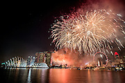 Firework display during SG50 Singapore National Day Celebration