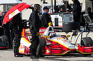 20-21 Febuary, 2012 Birmingham, Alabama USA.Helio Castroneves on pit road.(c)2012 Scott LePage  LAT Photo USA