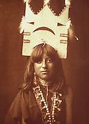 NATIVE AMERICANS E. Curtis photograph, early 20th century, 'Tablita Woman Dancer' 1905 San Ildefonso Pueblo, New Mexico