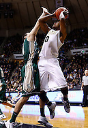 WEST LAFAYETTE, IN - DECEMBER 29: Terone Johnson #0 of the Purdue Boilermakers shoots the ball against Matt Rum #4 of the William & Mary Tribe at Mackey Arena on December 29, 2012 in West Lafayette, Indiana. Purdue defeated William & Mary 73-66. (Photo by Michael Hickey/Getty Images) *** Local Caption *** Terone Johnson; Matt Rum