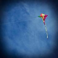 Kite Flying against Blue Sky