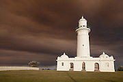 A blanket of smoke descends on Christison Park by the Macquarie Lighthouse,Watsons Bay, Sydney,Australia.