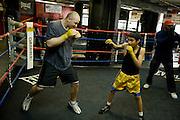 Gleason's Gym, Dumbo, Brooklyn, New York.Golden Glove Boxer Adam Kownacky (20) 235 pounds...