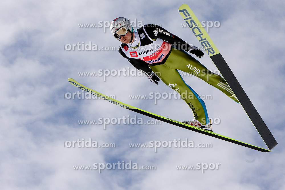 Simon Ammann of Switzerland competes during Flying Hill Individual Qualifications at 1st day of FIS Ski Flying World Championsghips Planica 2010, on March 18, 2010, Planica, Slovenia.  (Photo by Vid Ponikvar / Sportida)