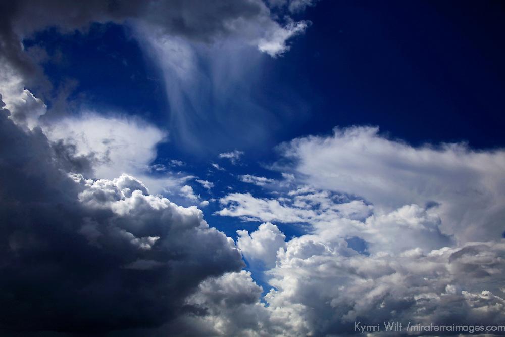South America, Peru, Amazon. Amazon storm clouds.