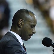 Superintendent of the Colonial School District D. Dusty Blakey, Ed.D. addresses students and family during William Penn commencement exercises Monday, June 08, 2015, at The Bob Carpenter Sports Convocation Center in Newark, Delaware.