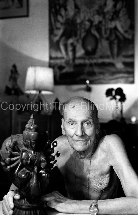 Eric Labrooy at his home in Colombo 5.