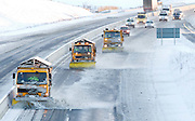 30/11/2010.Snow Ploughs pictured with a garda escort clear the M9 at Mullinavat county Kilkenny yesterday afternoon..Picture Dylan Vaughan.