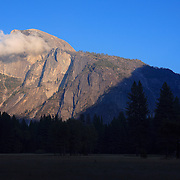 Half Dome And Moon Rising - Yosemite Valley Meadow - Yosemite