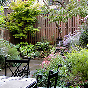 Cottage garden recreated in the backyard of Brooklyn Brownstone by Outside Space NYC