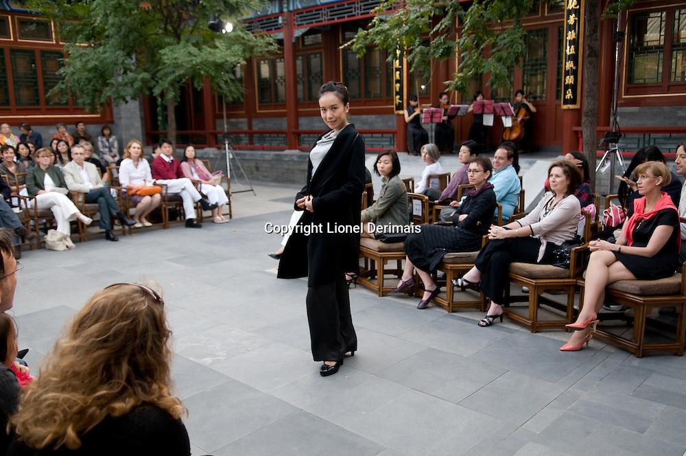 Miss Kathrin von Rechenberg fashion show at the Aman resort in Beijing on September 20th 2009.